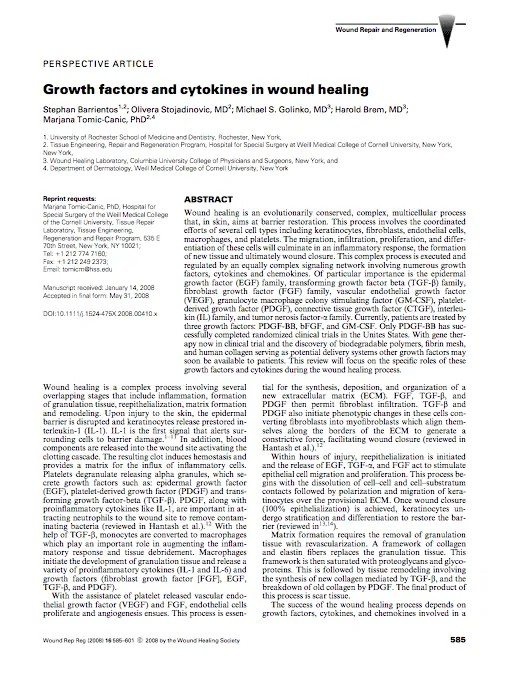 Research-Growth factors and cytokines
